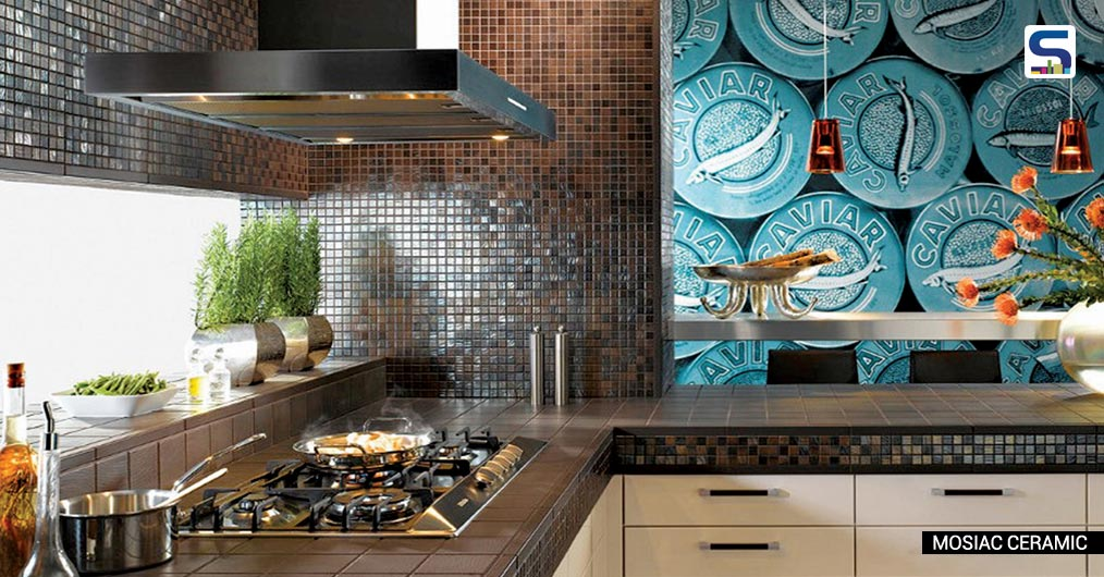 Wrapping the backsplash around the entire room gives a sense of visual continuity, which can help a small space seem larger. Changing the orientation of tile can create an expensive look, adds Ar. Milind Pai.