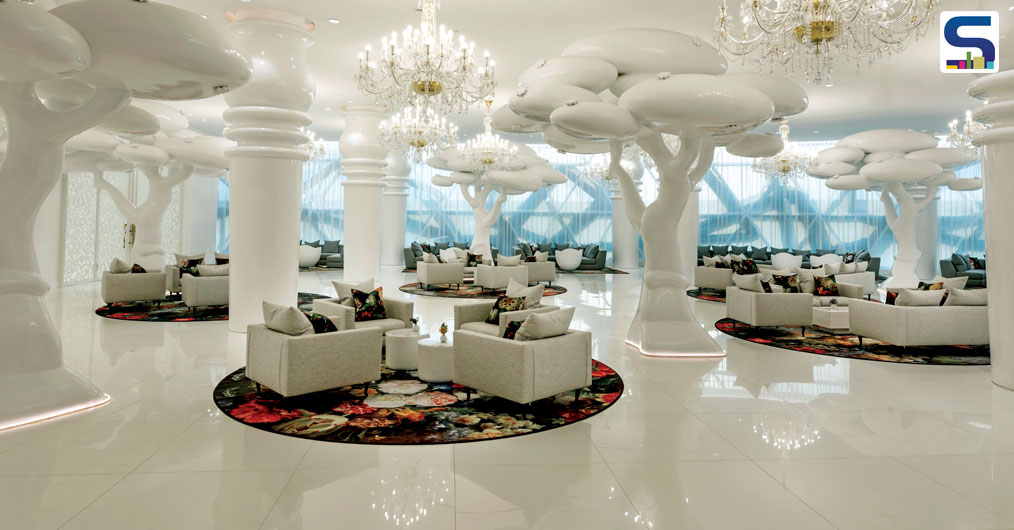 """""""Many themes are layered in the hotel. With each individual space telling its own tale, guests have many different experiences, and therefore, weave for themselves a volume of stories to share,"""" says Marcel."""