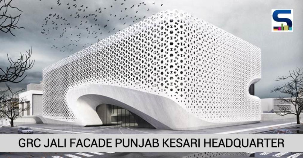 Intelligently designed by Architects Amit Gupta and Britta Knobel Gupta, this is one of thelatest projects by Studio Symbiosis Architects, Noida. The smart facade of Punjab Kesari Headquarter is designed with the capability of reducing heat gain and optimize façade..