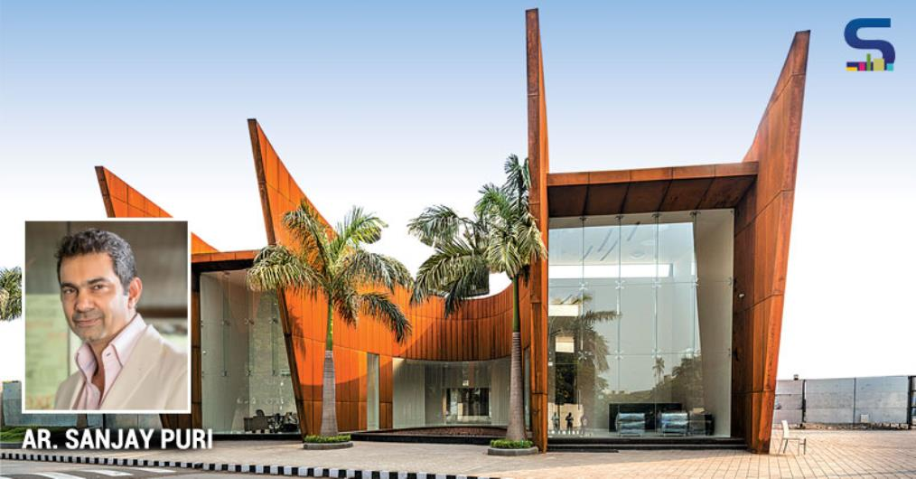 Corten steel has an amazing organic nature changing in shade and textural quality over the time, rendering the building dynamic. It was chosen for these reasons. We also like to work with other natural looking metal façade materials like Galvanized Iron sheets, Bronze sheets and Copper sheets etc