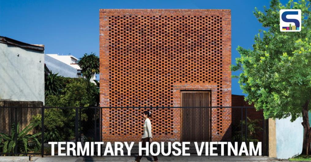 The structure of the house include many layers which are brick walls with holes arranged randomly like a termitary together with the large inter-fl oor space. Th ose holes are considered as vents help the wind rotate inside the house and allows breeze and light get to all corners in the house, creat