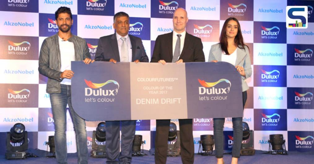 Dulux Brand Ambassadors Farhan Akhtar and Shraddha Kapoor Unveil Colour of the Year - 'Denim Drift' Blue will appear in a new light and will be available across Dulux's innovative range of interior and exterior paint.