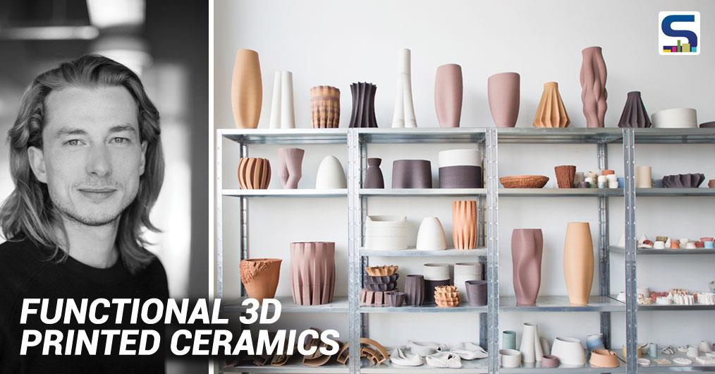 Olivier van Herpt recently won the New Material Award 2016 for his Functional 3D Printed Ceramics. More and more materials can be printed in 3D, including clay. Olivier has built a 3D clay printer. The designer can influence the machine as it prints.