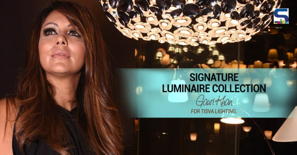 Gauri Khan unveiled her signature collection of Tisva luminaires at the Tisva lighting studio in Mumbai. This collection of aesthetic luminaires has been curated by Gauri Khan and is an expression of creativity that has been inspired by pure light.