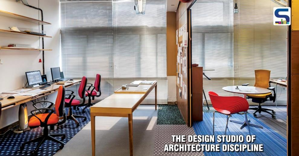 Located across the road from the IIT Campus, in the young, bustling SDA market is the Architecture Discipline Studio. The popular, centrally located Barista market node was consciously chosen to expose architects at large, by extending recreational activities beyond the limited office space.