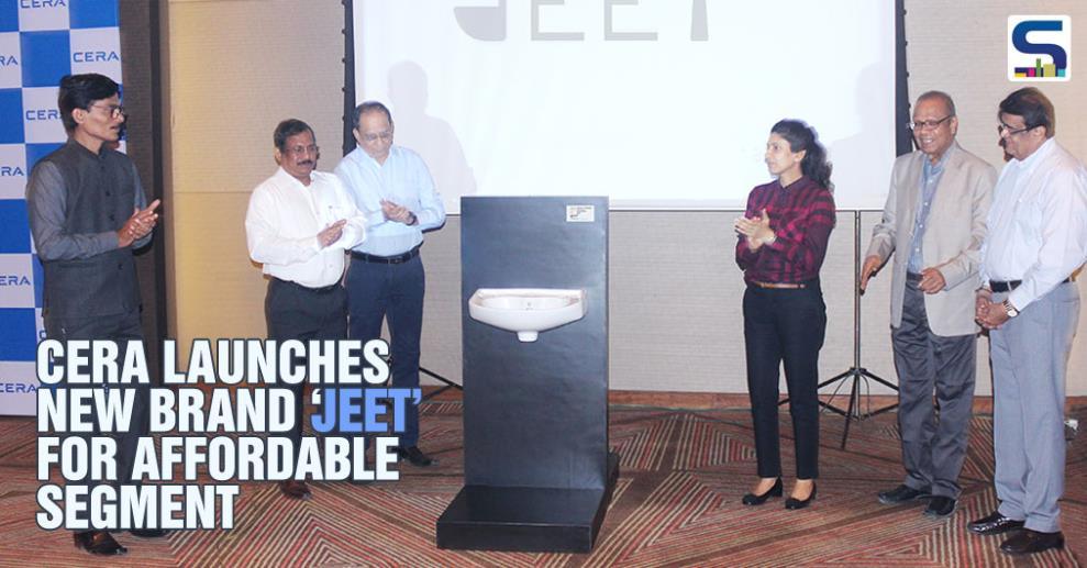 CERA, India's premium home solutions brand, has launched a new brand of sanitary ware, Jeet, aimed at the fastest growing affordable segment.  Jeet was unveiled by Mrs. Deepshikha Khaitan at Ahmedabad today, in the presence of the top management team and the entire sales force of CERA.