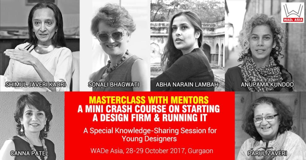 The panel will comprise of 6 seasoned senior Women Architects & Designers sitting together to receive and respond to the questions from upcoming young architects & designers.