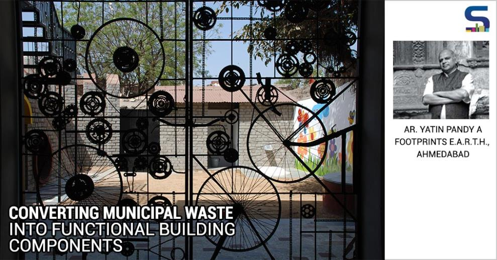 Non-polluting environment, economic empowerment and affordable built forms are the three key dimensions of this initiative. The project is an outcome of over three years of empirical research, with the goal of effectively converting municipal waste from the domestic sector..