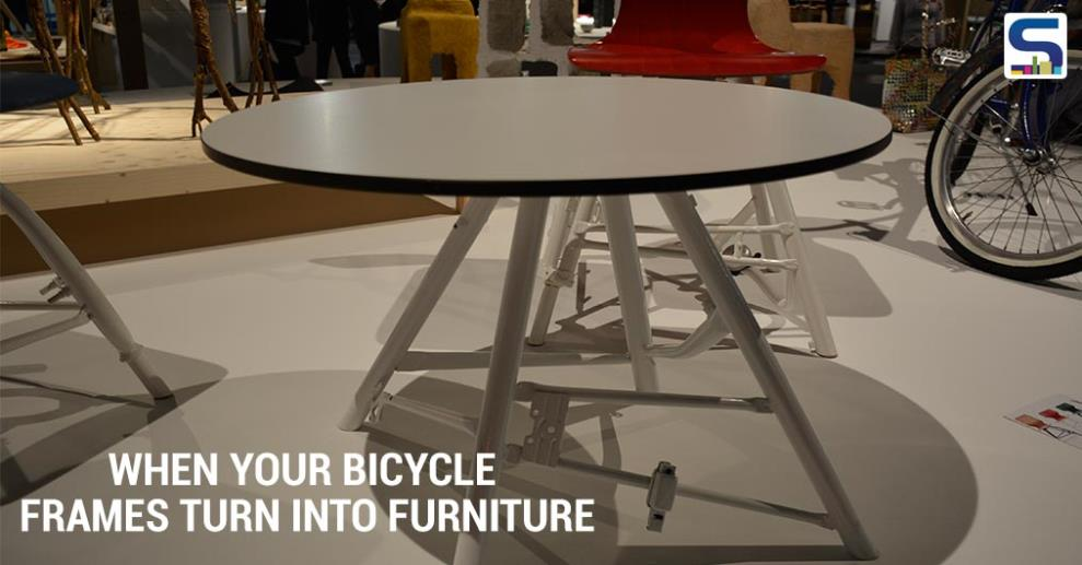 In order to create a unique piece of furniture out of every chair, used and no longer required metal is used. Old bicycle parts are sorted, cut, welded, blasted and powdered. Unique chair bases are created in infinite variations