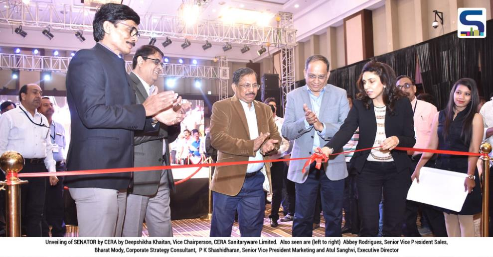 Deepshikha Khaitan, Vice Chairperson, CERA Sanitaryware Limited, unveiled SENATOR by CERA, the premium offering from CERA stable, at a glittering function held at Ahmedabad, in the presence of trade associates invited from all over India.