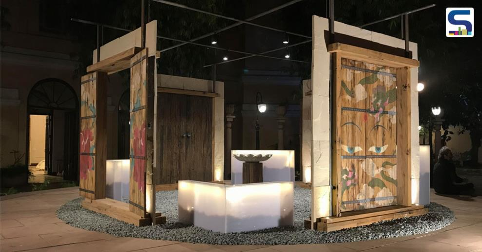 """Ar. Swanzal Kak Kapoor in collaboration with Artist Umika Mediratta created an Installation """"Dvaara: Vihaara"""", expressing the Buddhist concept of the innate potential that each of us possesses to manifest the life condition of the Buddha."""