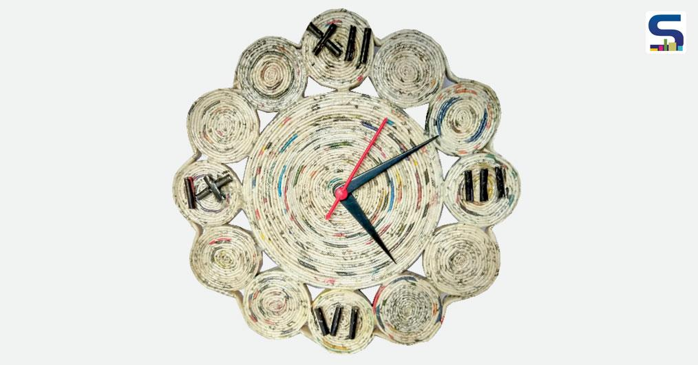 India's heritage art have found its way to your walls in the form of these gorgeous clocks. Manufactured by Craftpreneur, these beautiful clocks are made from 100% Recycled Newspaper.