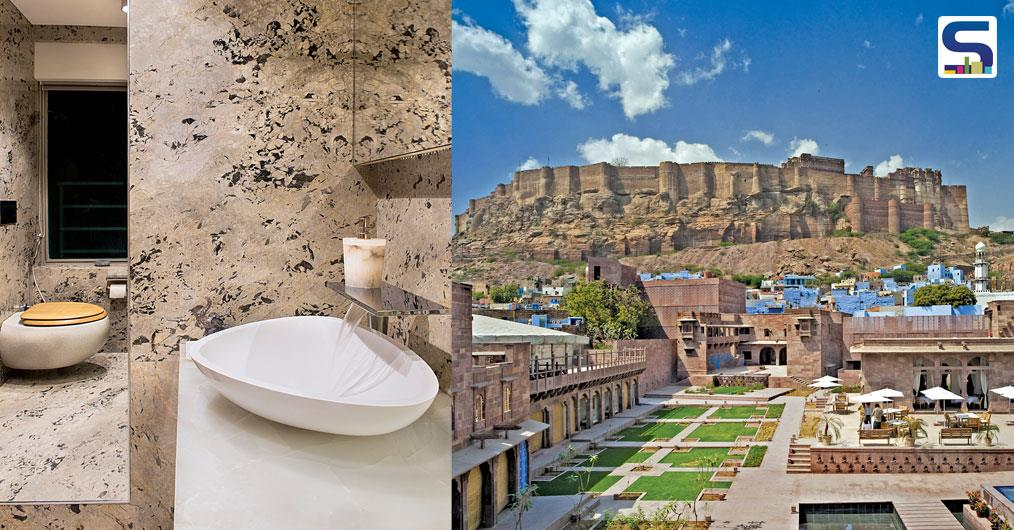 Set in the heart of the walled city of Jodhpur, Rajasthan, RAAS is a 1.5-acre property uniquely located at the base of the Mehrangarh Fort. The brief was to create a luxury boutique hotel with 39 rooms in the context of the Old city quarter of Jodhpur.