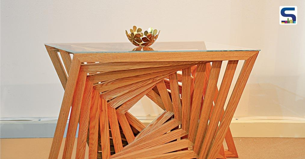 "This beautiful and stylish ""Twisted Table"" is a part of ""KAPPA Collection by Radhwa Kabli."