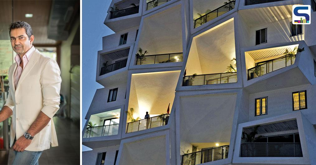 The apartments in Ishatvam 9 have been designed to occupy a complete floor opening out on all sides with each room extending into twenty feet high, double height decks