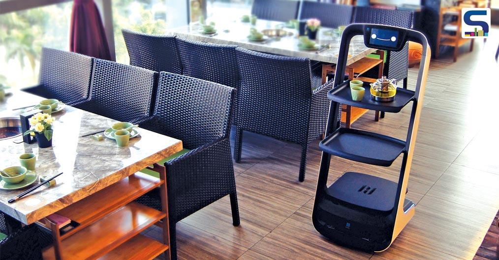 The advanced, delivery-robot is designed to help waiters in restaurants by bringing orders to the guest using high-precision laser radar technology.
