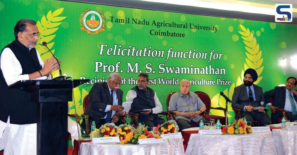 MS Swaminathan, Founder, MSSRF and the Father of Green Revolution in India has been awarded the First World Agriculture Prize in Chennai.
