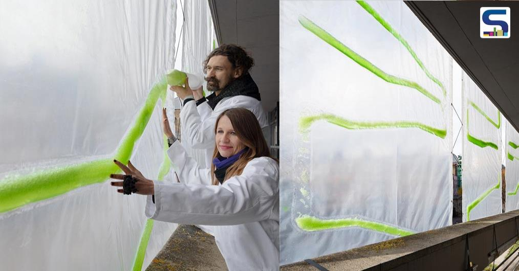A London-based architectural and urban design firm ecoLogicStudio, in collaboration with European climate innovation has designed a Bio-digital Urban curtain-aka Photo.Synth.Etica to purify the polluted air around us.