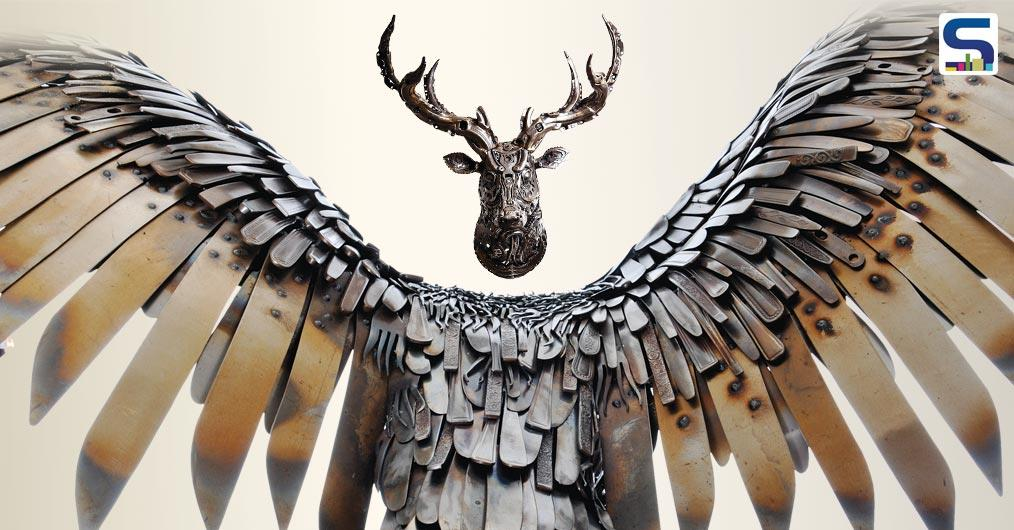 Alan Williams is a metal artist & sculptor based in the UK. His pieces are mostly made from found and reclaimed metal. Even as a child he would create fantastical hybrid creations using old broken toys and a tube of superglue.