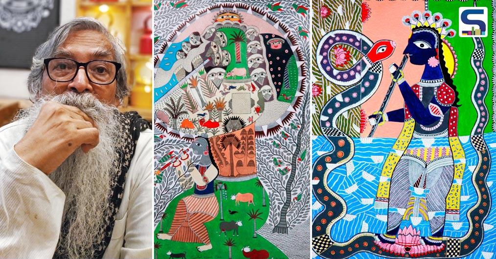 "The solo show of famous Mithila artist Santosh Kumar Das presented by Anubhav Nath, Curatorial Director of Ojas Art and curated by Kathryn Myers starts on Thursday, January 10th 2019. The month-long event- ""Rerouted Realities""- will showcase around 40 artworks by the distinguished artist."