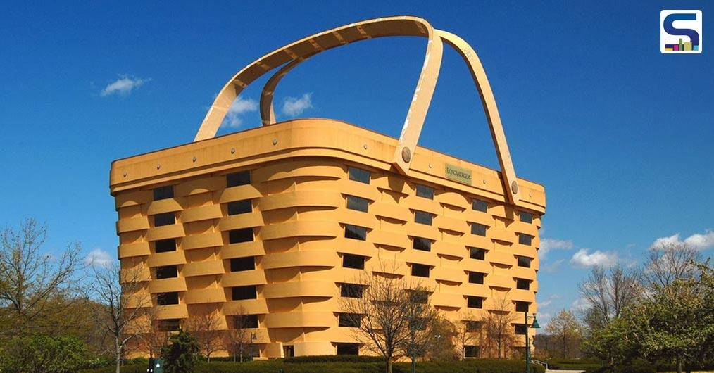 No, it's not a shopping bag, but a building in the American Ohio. Designed by the Longaberger Company and executed by NBBJ and Korda Nemeth Engineering