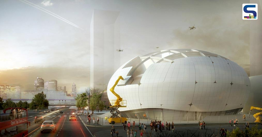 Melike Altinisik Architects (MAA), who are planning to build a Robot Science Museum in Seoul, have recently revealed their strategy to build the museum using robotic construction techniques and drones.