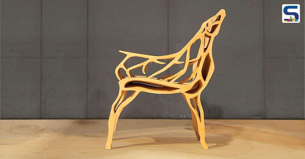 Combination of modern design idea and Slavic culture is what Joanna Sieradzan had in mind before designing this deer shaped modern style architectural chair.
