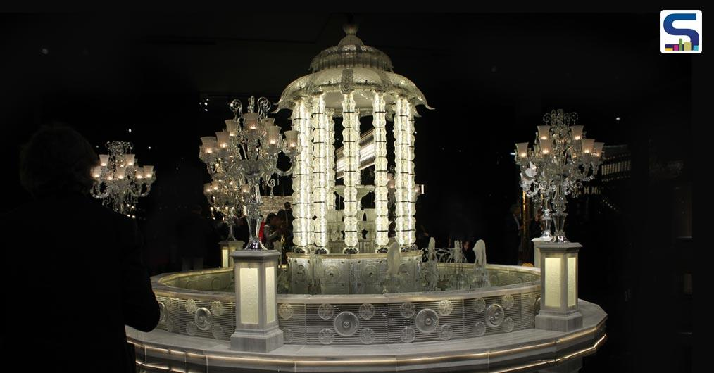 Fountain, Hand-made with Thousands of Parts in Crystal and Artistic Glass