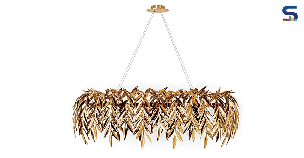 Luxuriant Lighting Pieces Made with Handcrafted Brass Leaves