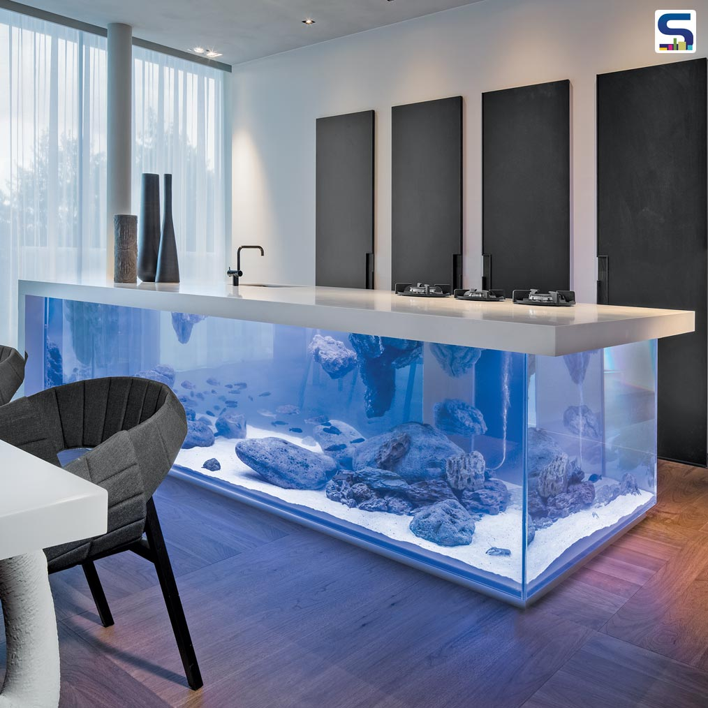 Kitchen Atop an Aquarium