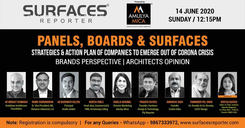 Surfaces Reporter Webinar on Panels