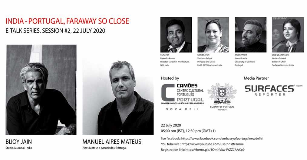 LIVE E-talks with Bijoy Jain, Manuel Aires Mateus