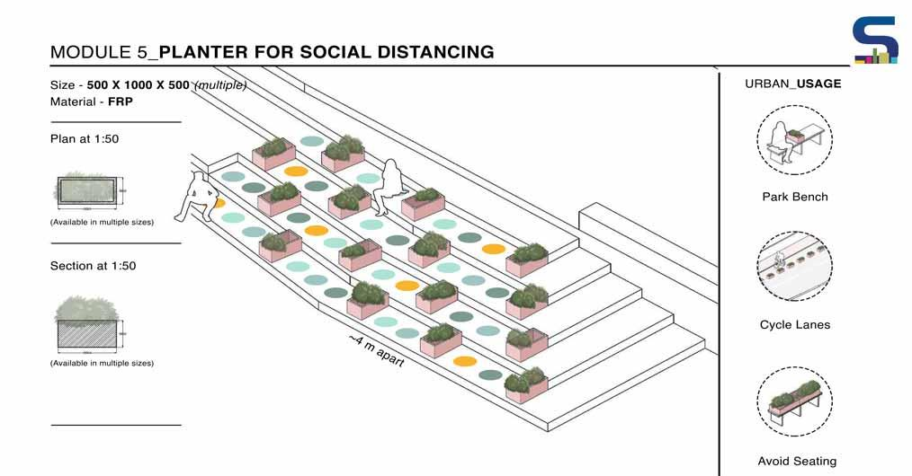 Planter For Social Distancing - Module 5 by Bandra Collective