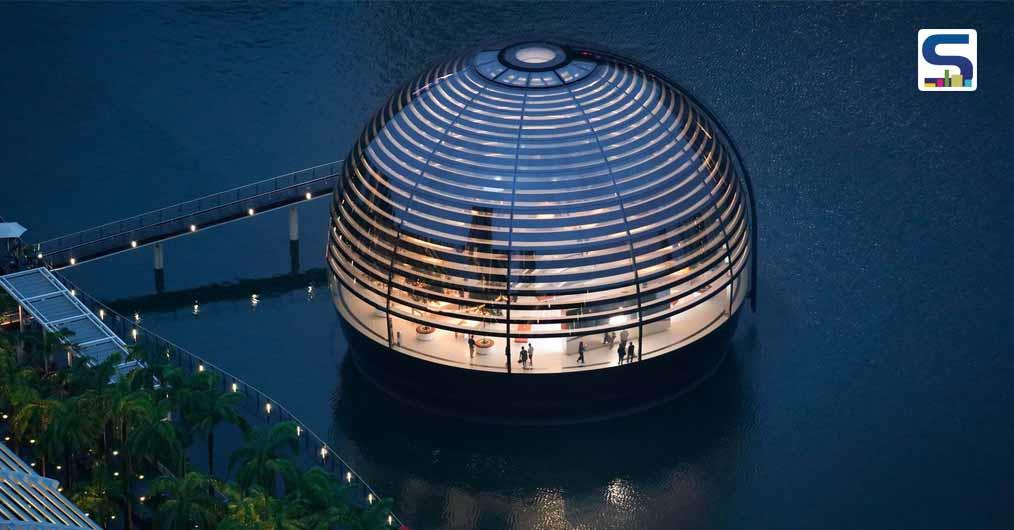 Floating Apple Marina Bay Sands Store in Singapore | Foster + Partners