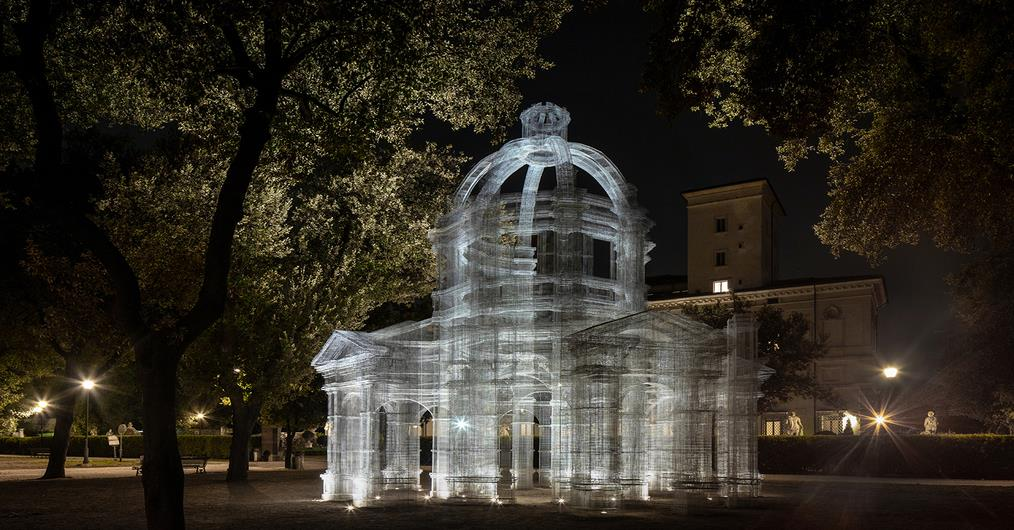 Edoardo Redesigned Wire Mesh 'Etherea' Installation for 'Back to Nature' Exhibit in Rome | Surfaces Reporter