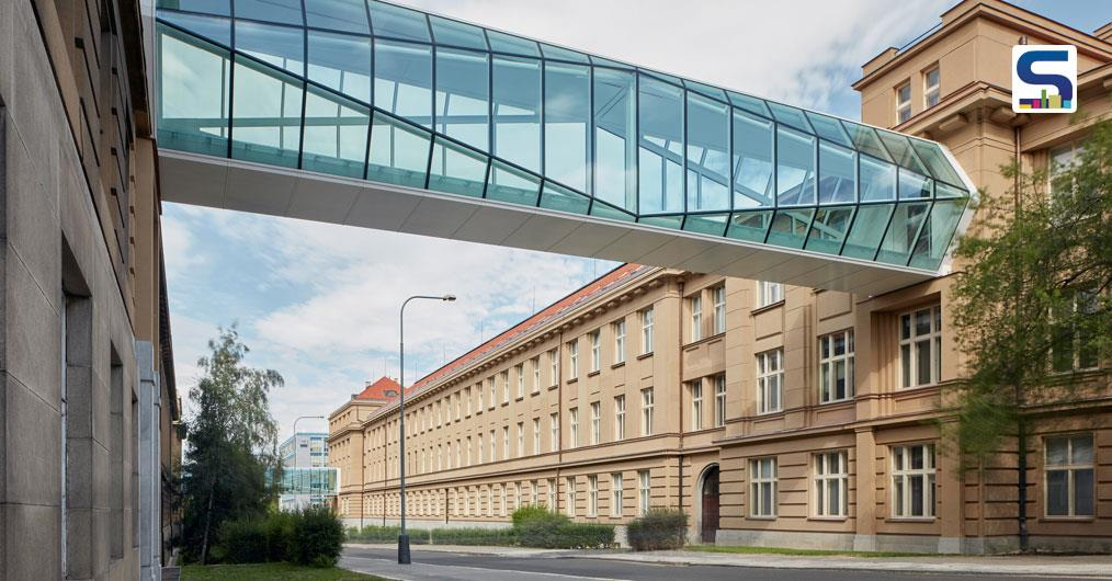 Thermal Insulation Double Glazing Stops the Excessive Heating on this Crystalline Footbridges Connecting the UCT in Prague | OV-A