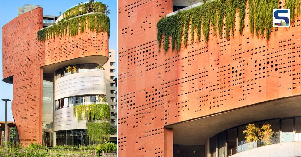 Stone Jali, Column-Free Floors and Hybrid Structure System Characterize Sangini House | Surat