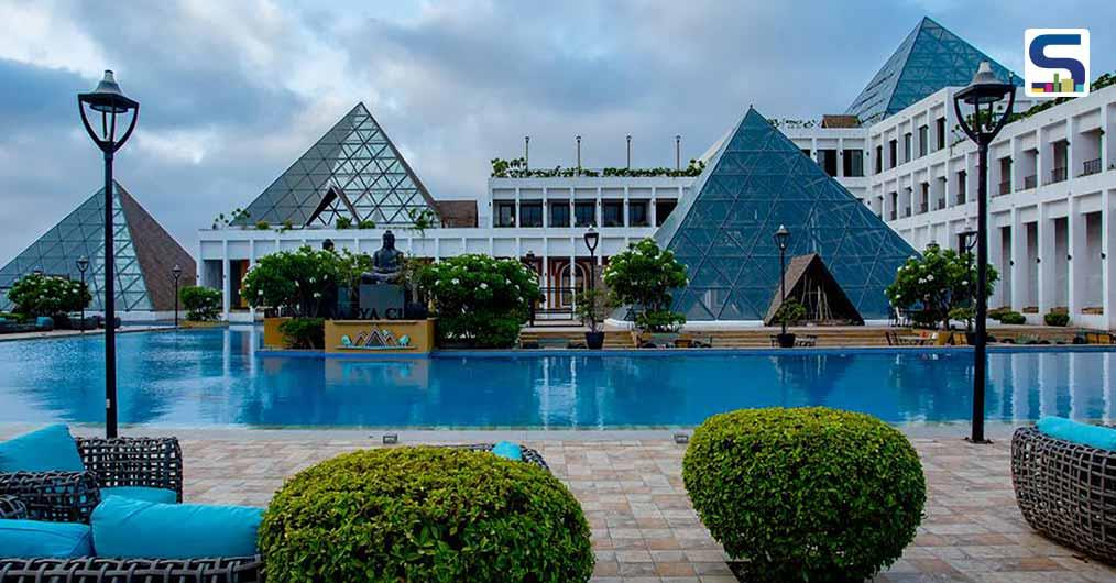 This Resort in Rajkot Features Seven Multi-level Pyramids Made of Glass and Steel - Ishwar Gehi