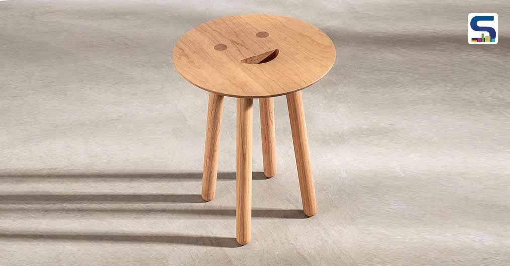 A Carbon-Negative Smile Stool By Spanish Designer Jaime Hayon