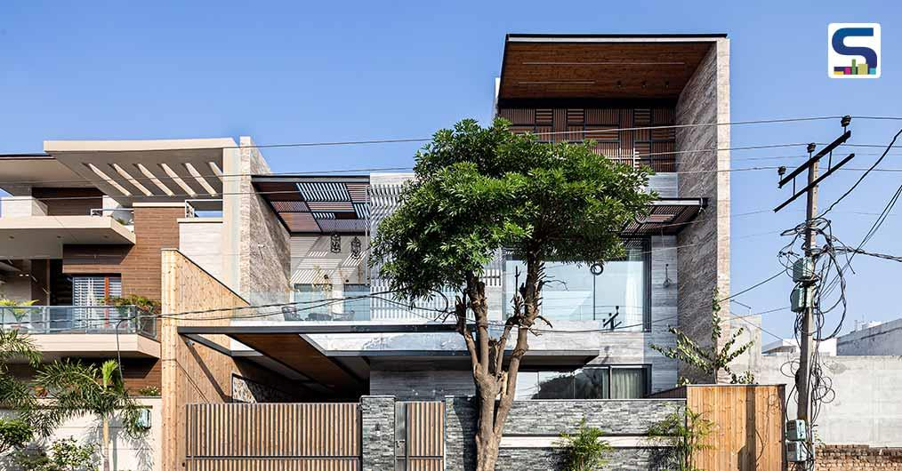 An Oblong Shape Barrier Free Abode in Jalandhar by Space Race Architects