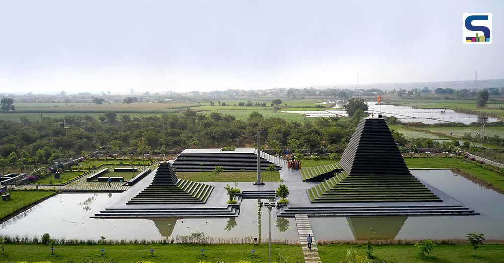 Sameep Padora & Associates Used Black Limestone in the Construction of the Stepped Temple in Andhra Pradesh