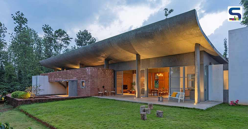 This Laterite Stone House in Karnataka Highlights A Trough Like Roof | Ovoid House | Greyscale Design Studio