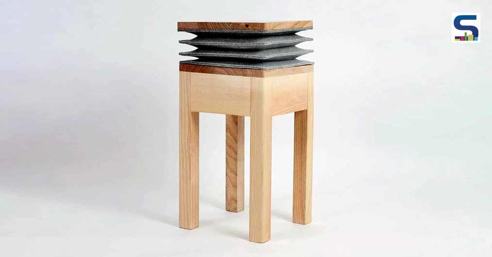 Accordion-Shaped 'Xia' Stool Emits A Musical Note When Pressed | Soraia Gomes | Portuguese