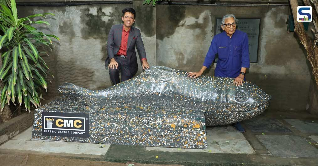 """Classic Marble Company Felicitates Pritzker Prize Laureate BV Doshi With """"Jalsha""""- A Marble Masterpiece on his 94th Birthday 