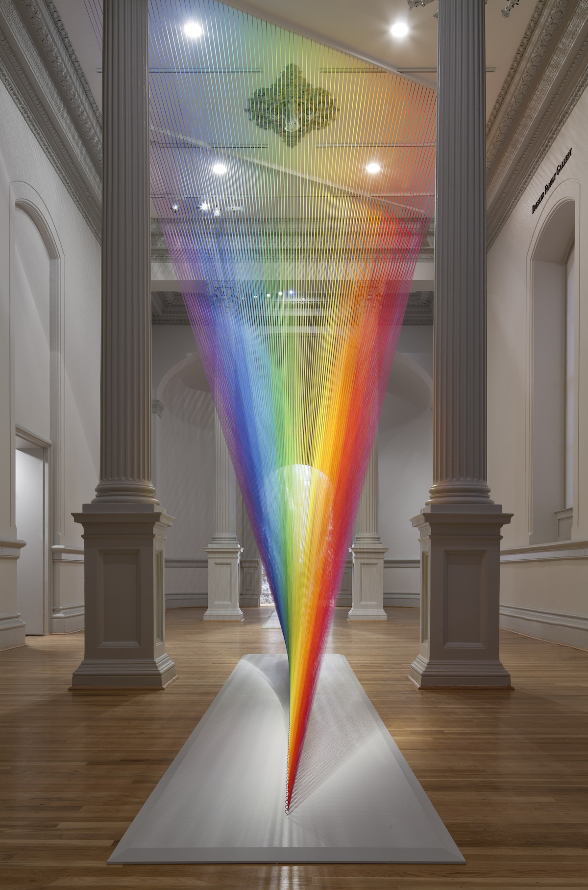 Mexican artist Gabriel Dawe thread art installations