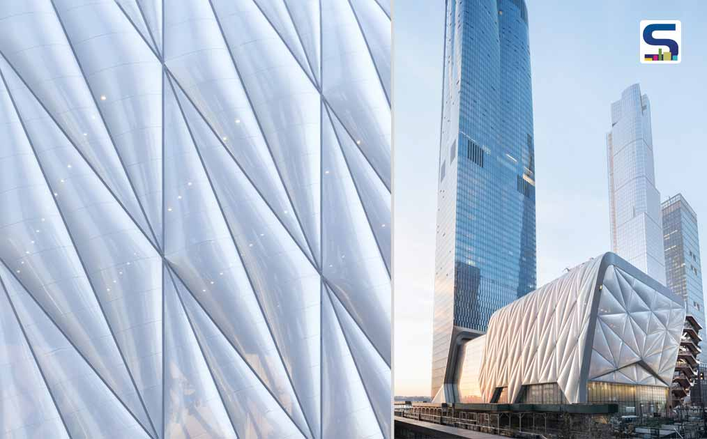 Façade Detail ETFE and Operable Walls--View of The Shed, 15 Hudson Yards and The High Line