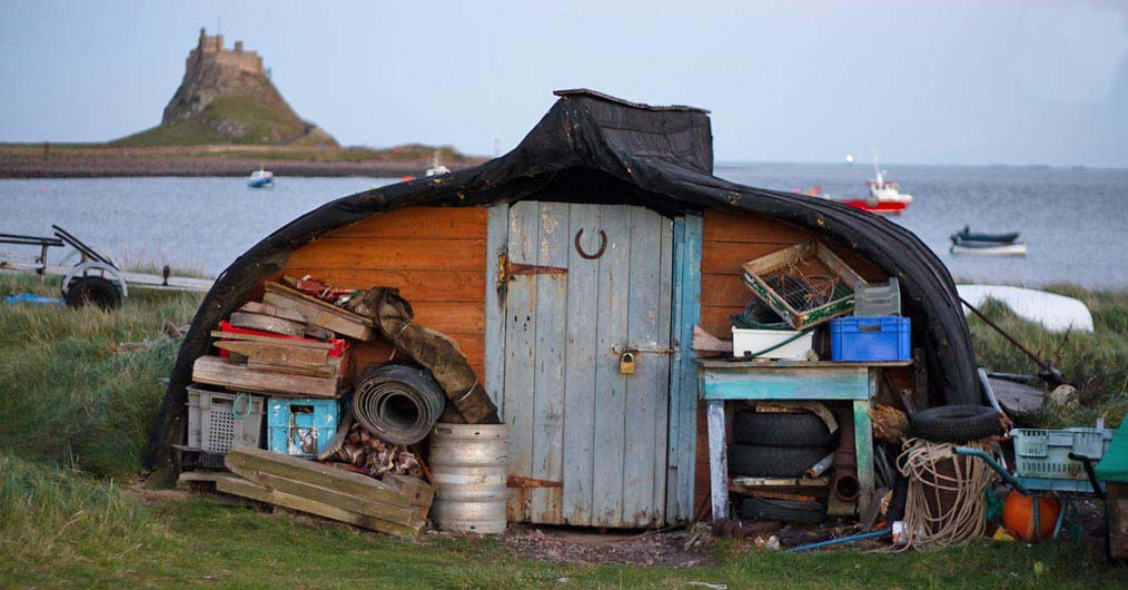 Lindisfarne Uk Upside Down Boat Shed