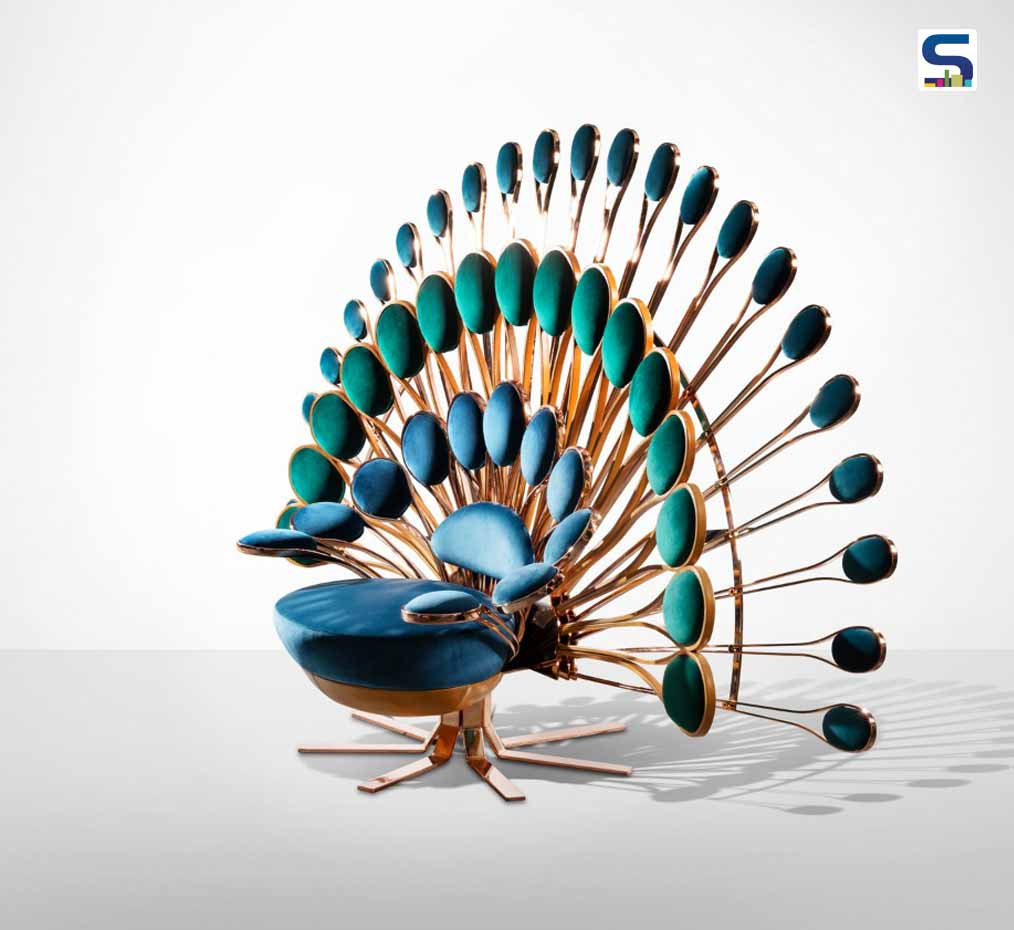Peacock chair by marc ange