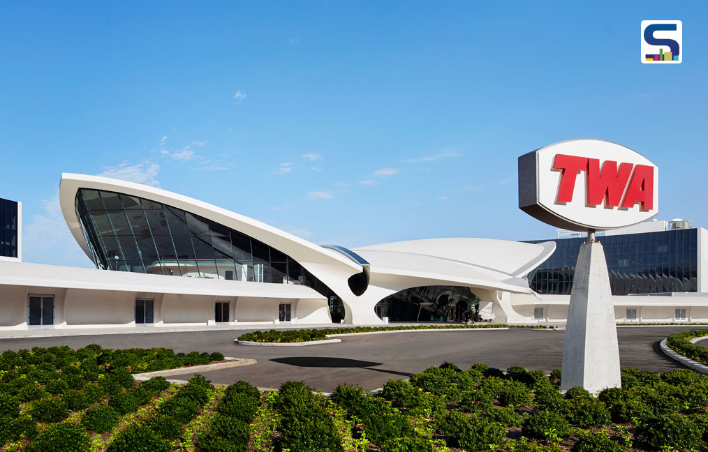 Two brand new wings behind Eero Saarinen's historic terminal house the TWA Hotel's 512 guestrooms.