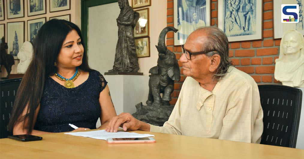 Vertica Dvivedi with Artist and Sculptor, Ram V. Sutar